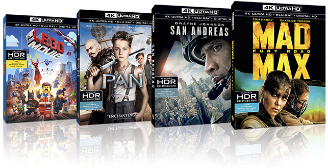 the first four UHD disc releases from Warner Bros.