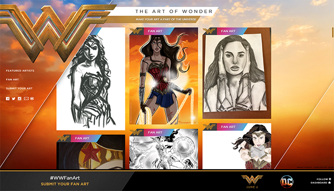 wonder woman art contest
