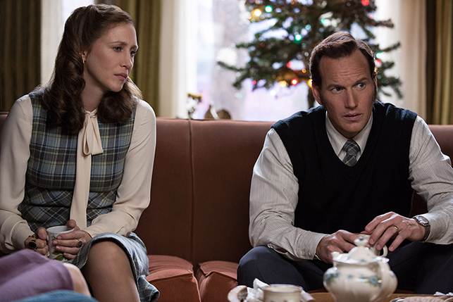 Vera Farmiga and Patrick Wilson as the Warrens