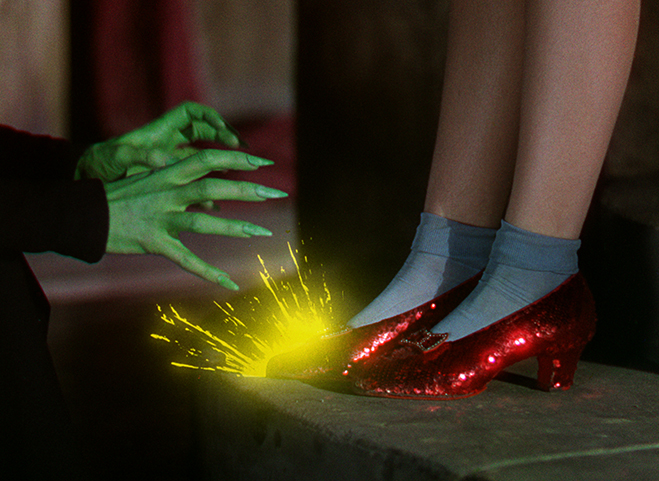 """Give me those ruby slippers..."""