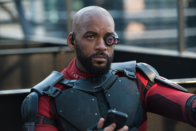 Oscar nominee Will Smith stars as anti-hero Deadshot in Suicide Squad.