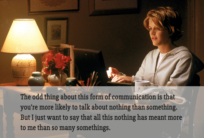 meg ryan typing in you've got mail