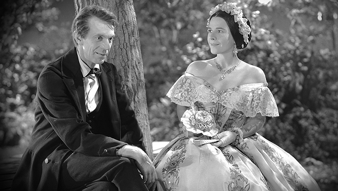 raymond massey and ruth gordon star in abe lincoln in illinois
