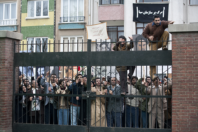 the unnerving reenactment of the taking over of the united states embassy as depicted in argo.
