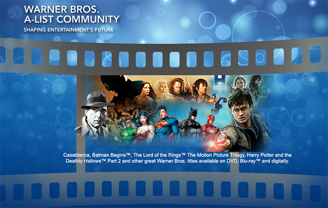 Warner Bros. A-List Community - Banner