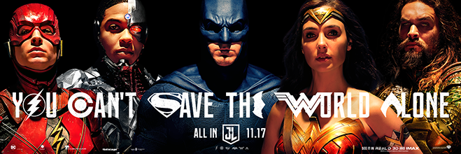 """Justice League"" Press Conference - Banner"