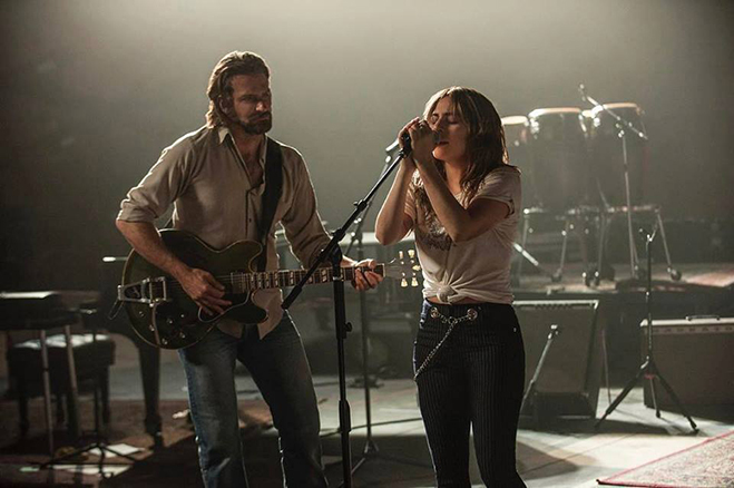 Bradley Cooper directs and stars in A Star is Born with Stefani Germanotta (aka Lady Gaga).