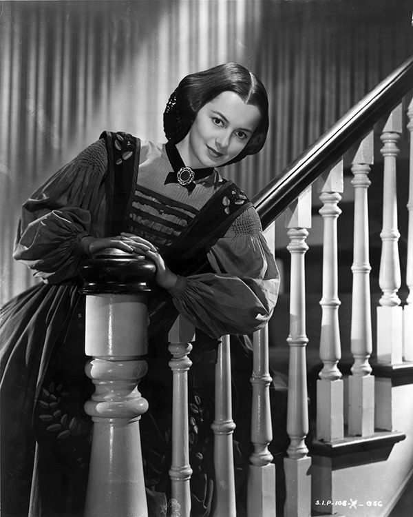 "Olivia de Havilland in in ""Gone With the Wind."""