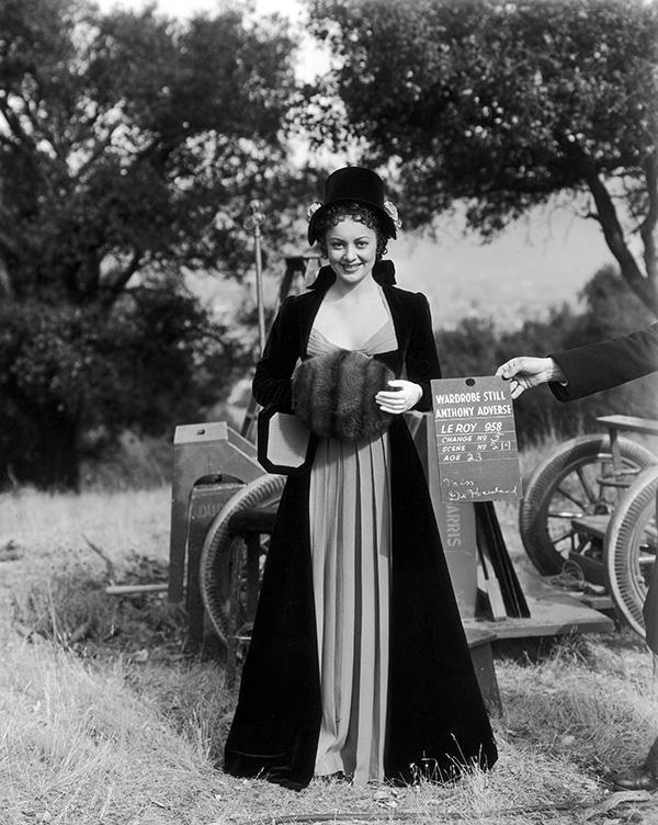 "Olivia de Havilland in ""Anthony Adverse."""