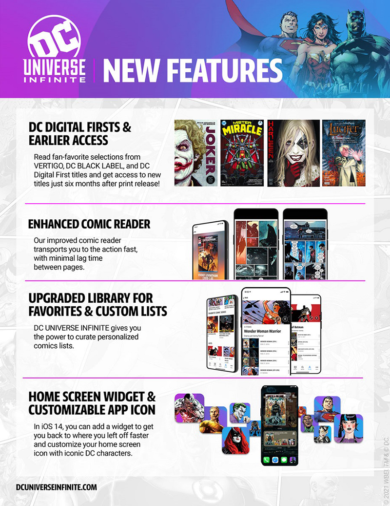 DC Universe Infinite - New Features - DC Digital Firsts & Earlier Access, Enhanced Comic Reader