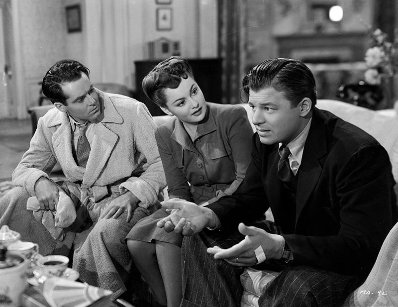 "Henry Fonda and Jack Carson and Olivia de Havilland in ""The Male Animal"" ("