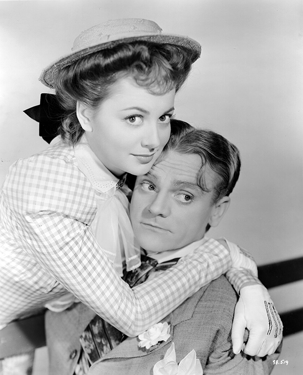 """Olivia de Havilland with James Cagney in """"The Strawberry Blonde"""" (1941)."""