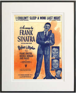 TCM Shop Holiday Gift Guide - I Couldn't Sleep a Wink Last Night Framed Sheet Music