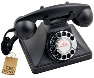 TCM Shop Holiday Gift Guide - GPO 200 Classic Rotary Dial Telephone Black