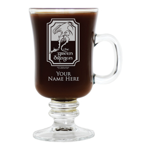 WB Shop Holiday Gift Guide - The Green Dragon Personalized Glass with Handle from The Lord of the Ri