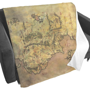 WB Shop Holiday Gift Guide - Middle-earth Map Fleece Blanket