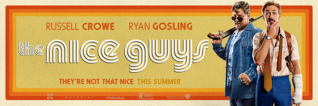 russell crowe and ryan gosling star in the nice guys, in theaters may 20