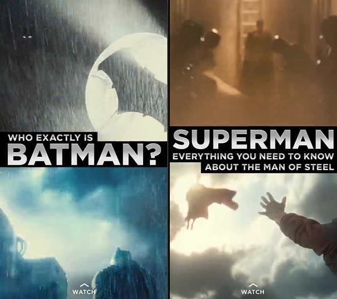 Batman v Superman snapchat screenshots