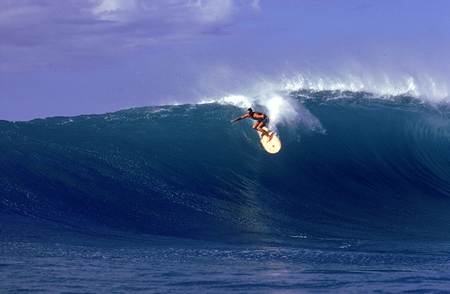 jan-michael vincent rides the waves as matt johnson in the surfing drama Big Wednesday