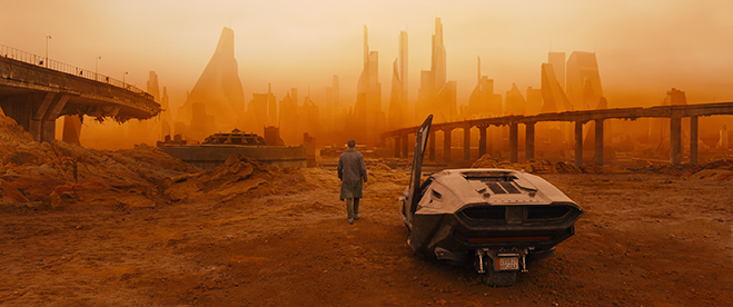 image of the city landscape in blade runner 2049