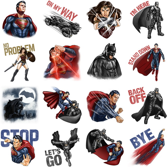 Batman v Superman sticker sheet