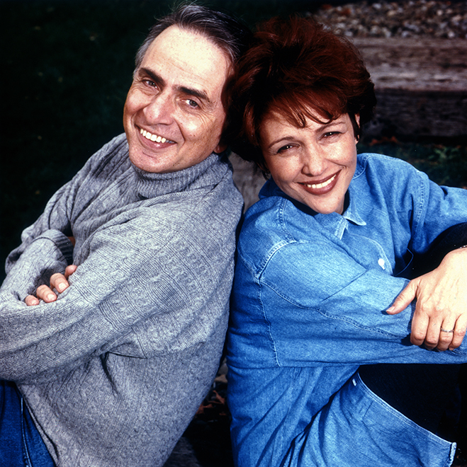 Noted astronomer, author and science guru Carl Sagan and his wife Ann Druyan wrote the original story that would become the best-selling novel, Contact, and the box-office hit of the same name.