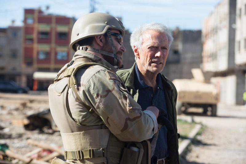 "Clint Eastwood and Bradley Cooper in ""American Sniper"""