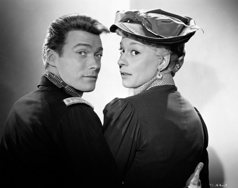 """Clint Eastwood and Carol Channing in """"The First Traveling Saleslady"""""""