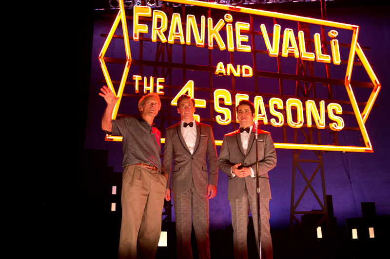 """Clint Eastwood, Erich Bergen and John Lloyd Young in """"Jersey Boys"""""""