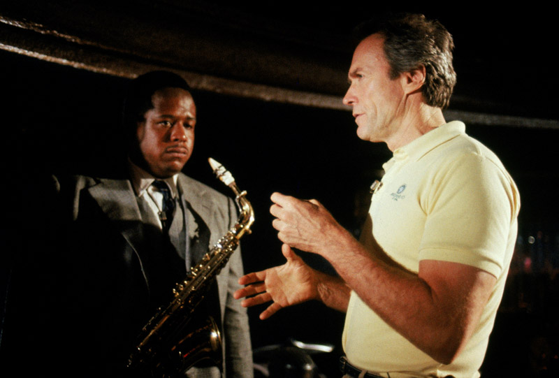 "Clint Eastwood and Forest Whitaker in ""Bird"""