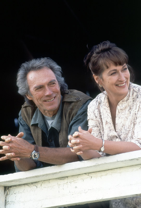 "Clint Eastwood and Meryl Streep in ""The Bridges of Madison County"""