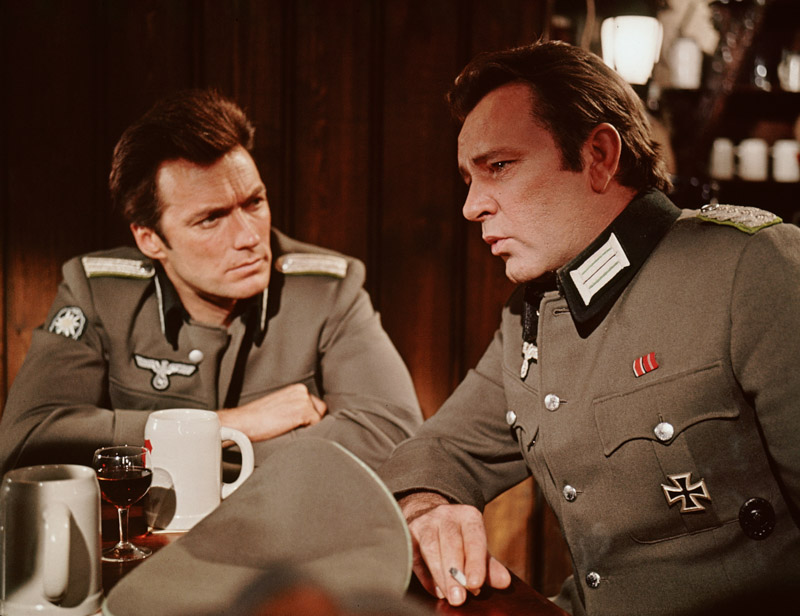 "Clint Eastwood and Richard Burton in ""Where Eagles Dare"""