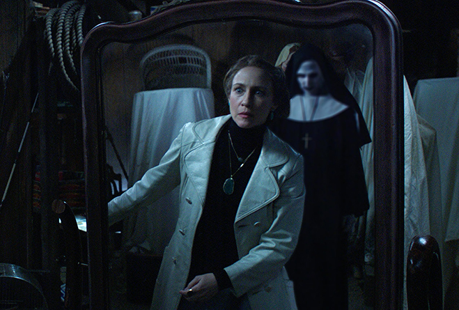 Vera Farmiga and audiences got a brief glimpse of The Nun in The Conjuring 2.