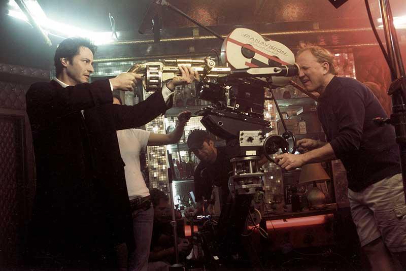 Constantine BTS Gun - Keanu Reeves