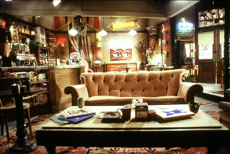Counch - Shot of Central Perk coffee house set.