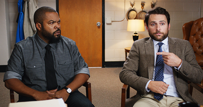 Ice Cube plays the angry and aggressive Mr. Strickland and Charlie Day is the passive and mild-mannered Mr. Campbell