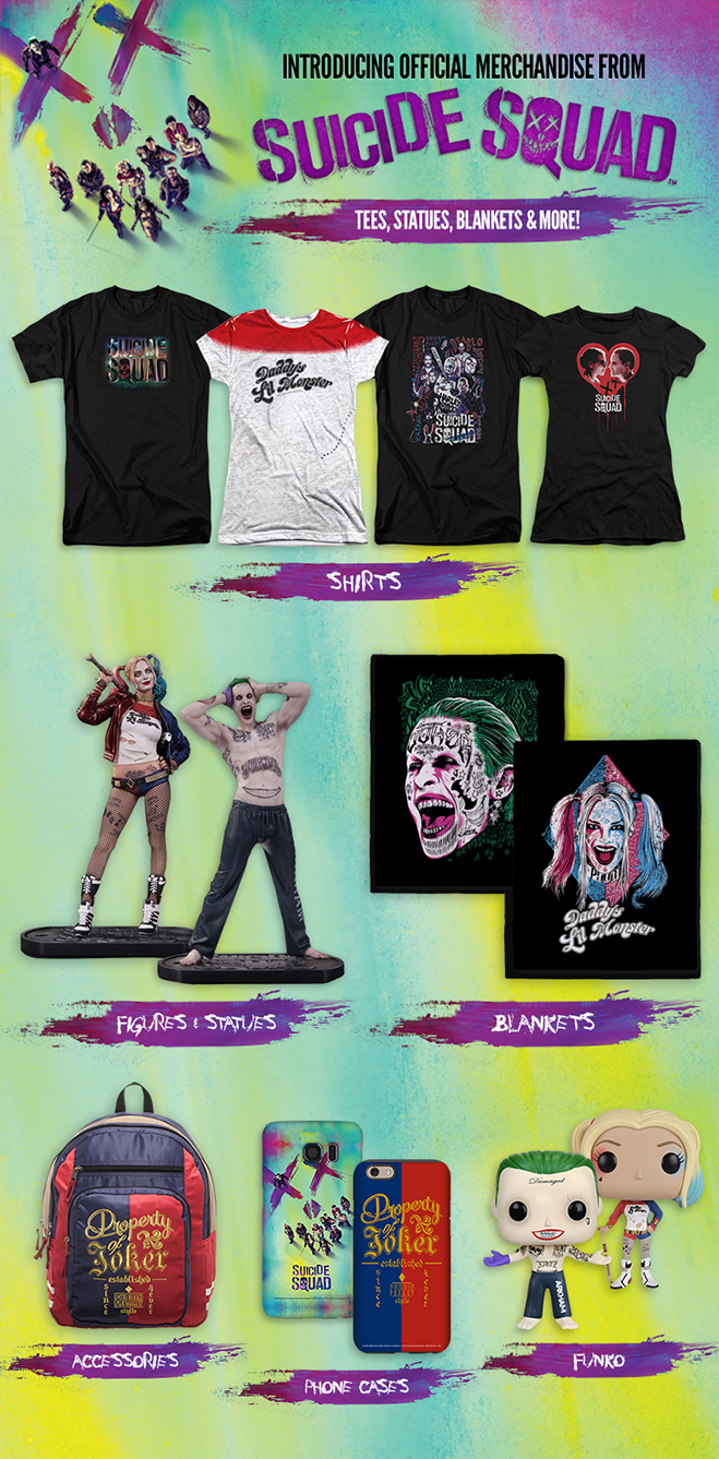 wbshop.com the official store for suicide squad merchandise