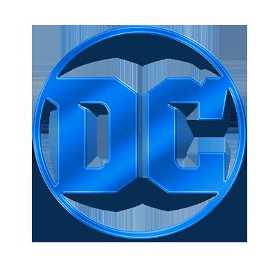 DC Entertainment 2016 logo in blue metallic