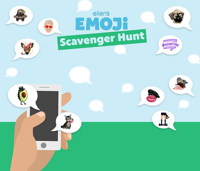 enter ellen's emoji scavenger hunt sweepstakes