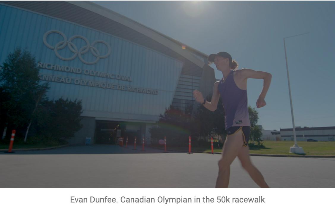 """Real Sports"" - Evan Dunfee. Canadian Olympian in the 50k racewalk"