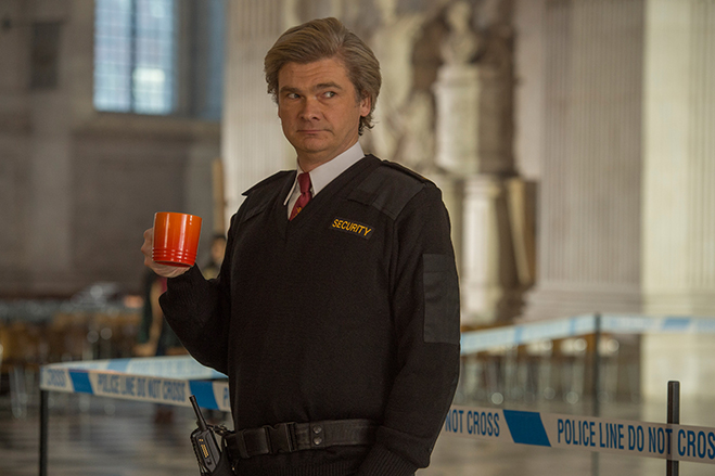 Paddington 2 co-writer Simon Farnaby also appears in the film as Barry the security guard