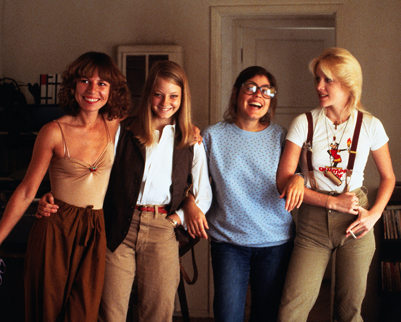 """Jodie Foster as Jeanie, Cherie Currie as Annie, Marilyn Kagan as Madge, Kandice Stroh as Deirdre in """"Foxes"""" (1980)."""