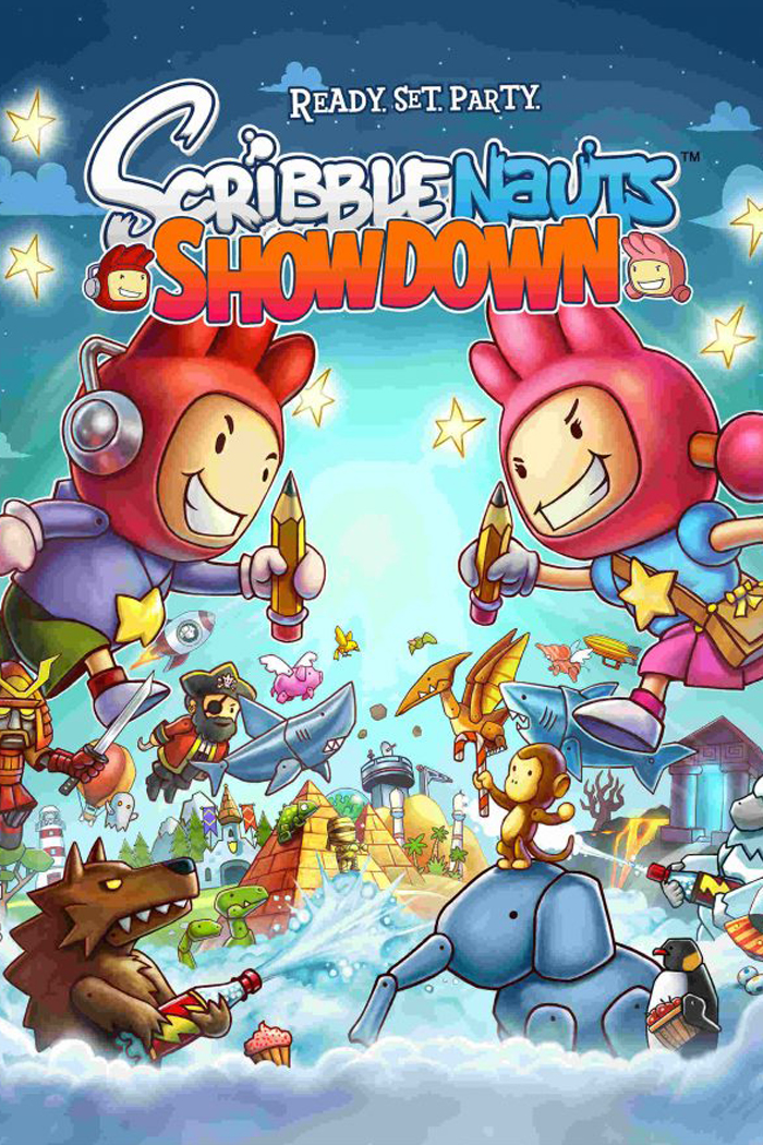 Scribblenauts characters characters going head to head holding pencils