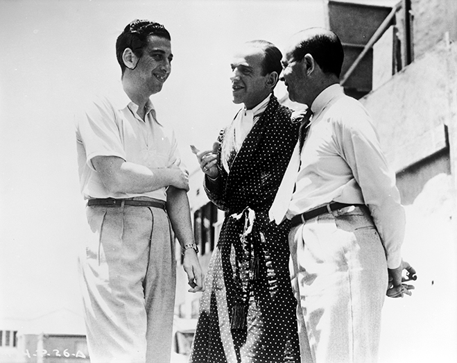 Mark Sandrich talking with Fred Astaire as Guy Holden