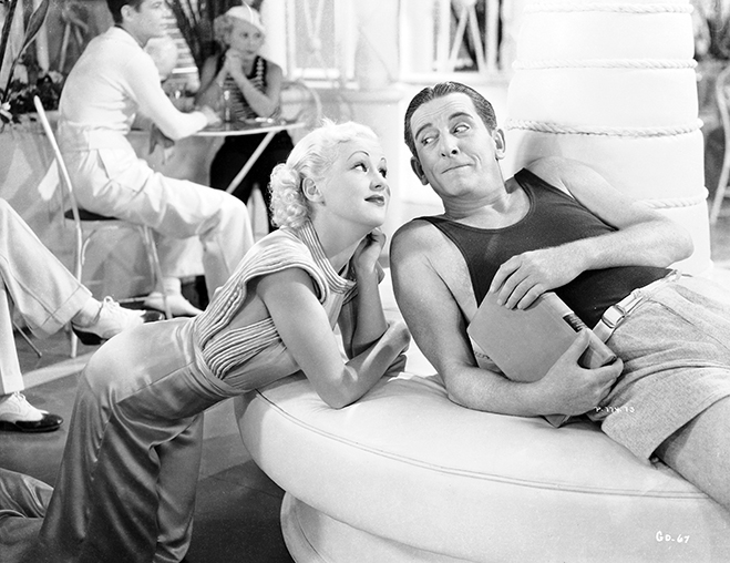 Betty Grable and Edward Everett Horton in The Gay Divorcee