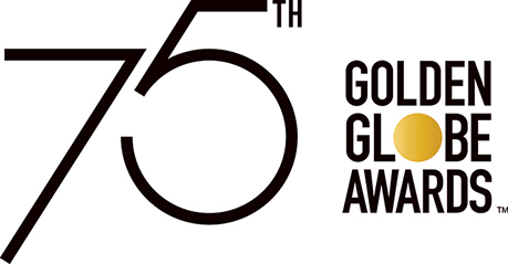 75th Annual Golden Globes Awards logo on white background