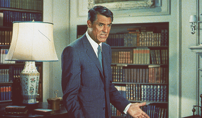 Cary Grant as Roger Thornhill in North By Northwest.
