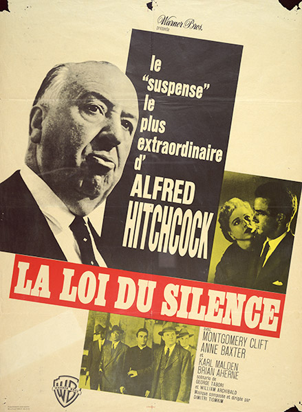 I Confess French poster art