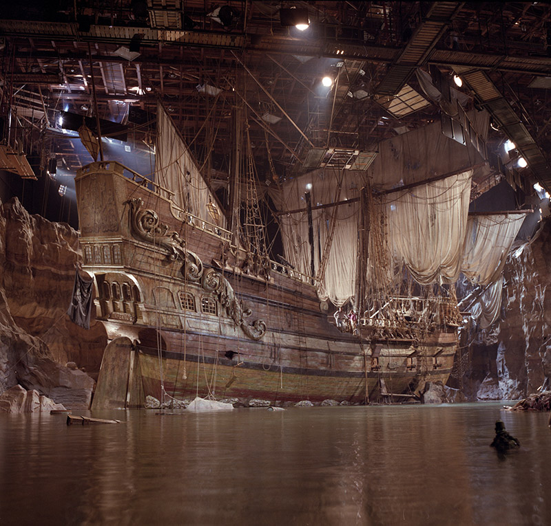 "Inferno, One-Eyed Willy's pirate ship, built on Stage 16 at Warner Bros. Studios and seen in ""The Goonies."""
