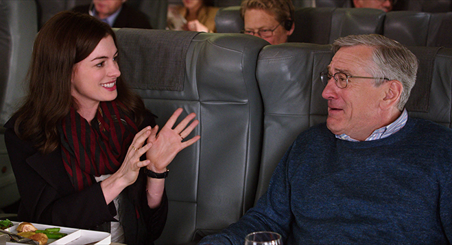 anne hathaway and robert deniro star in the intern